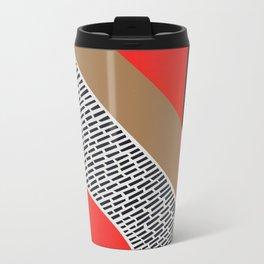 Pink Gold Red Abstract Travel Mug