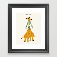 lets cuddle Framed Art Print