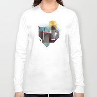 mountains Long Sleeve T-shirts featuring Over mountains by Efi Tolia