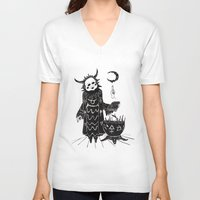 taurus V-neck T-shirts featuring Taurus by Justell Vonk