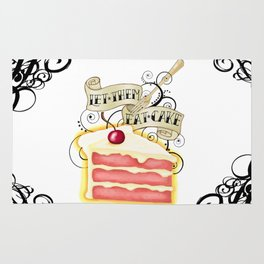 Let Them Eat Cake Vintage Tattoo Style Rug