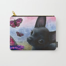 Black Chihuahua Dog Carry-All Pouch