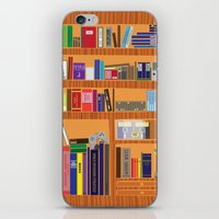 video game iPhone & iPod Skins featuring Video Game Geek's Bookshelf by ambivalentpress