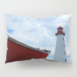 Boat and Lighthouse in Point Prim PEI Pillow Sham