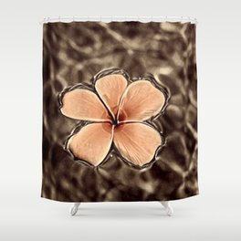 Floating flower Shower Curtain