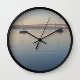 Thames River morning Wall Clock