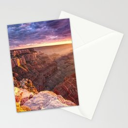 Purple Sunset at the Grand Canyon Stationery Cards