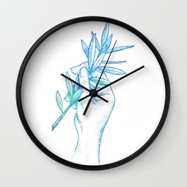 Piece Offering Blue Wall Clock