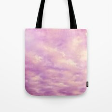 Dreamy Pink & Purple Abstract Tote Bag