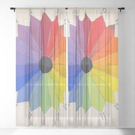 Vintage Color Wheel Sheer Curtain