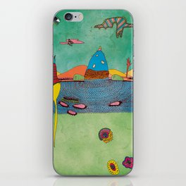 mysterious landscape and creatures iPhone Skin