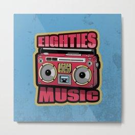 Eighties Music Stereo Metal Print