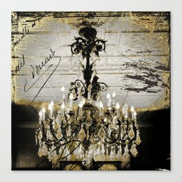 Crystal Chandelier Gold Vintage Canvas Print