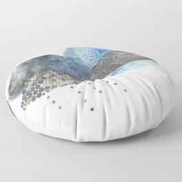 Melting Snow Floor Pillow