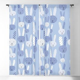 Blue Bunny Blackout Curtain