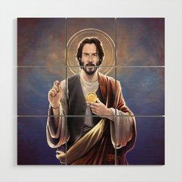 Saint Keanu of Reeves Wood Wall Art