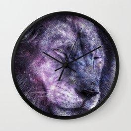 galaxy lion leo Wall Clock