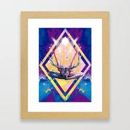 Autre visage du Yoga au Cerf Framed Art Print