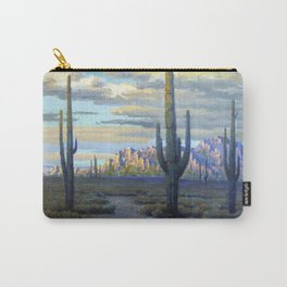 Superstition Mountains and Desert Landscape by John Marshall Gamble Carry-All Pouch