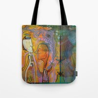 pills Tote Bags featuring pills by Amy Chace