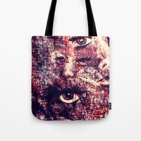 faces Tote Bags featuring Faces by Paige Elizabeth