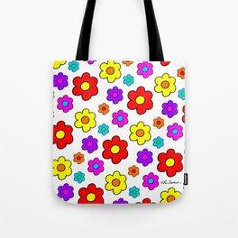 Pop Flowers Tote Bag