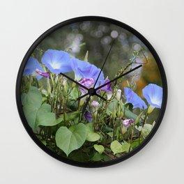 Morning Glory Wall Clock