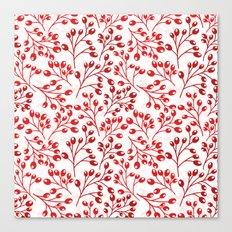 Autumn red berries Canvas Print