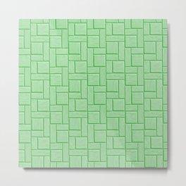 Green Block Metal Print
