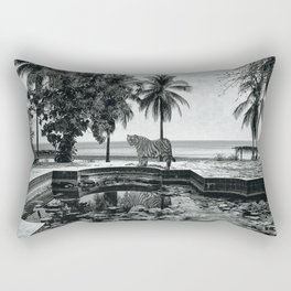 enimals 8 tiger Rectangular Pillow