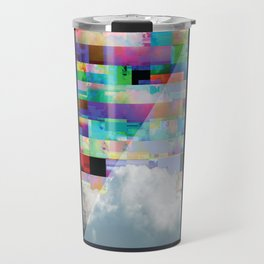 GlitchedClouds Travel Mug