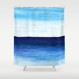 Blue & blue Shower Curtain
