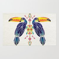 toucan Area & Throw Rugs featuring toucan by Manoou