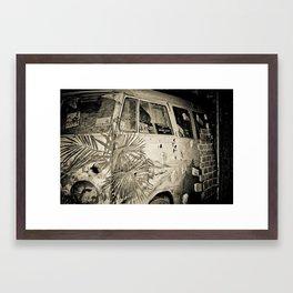 Nimbin Hippy Combie Framed Art Print