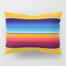 Traditional Mexican Serape in Yellow Multi Pillow Sham