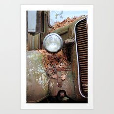 Vintage headlight Art Print