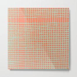 Left - Orange and green Metal Print