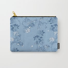 Chinoiserie in China Blue Carry-All Pouch