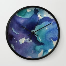 I dream in watercolor B Wall Clock