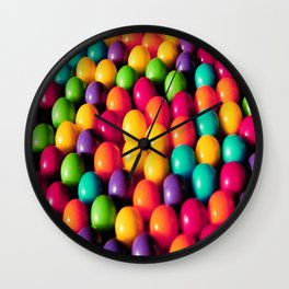 Rainbow Candy: Gumballs Wall Clock