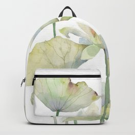 Lotus and Goldfish Watercolor  Backpack