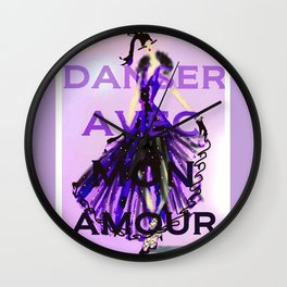 Dancing With My Love Wall Clock