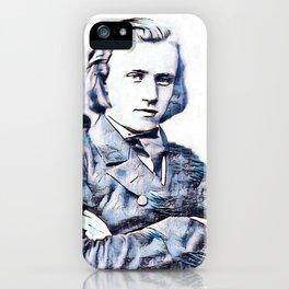 Johannes Brahms (1833 – 1897) in 1853 (3) iPhone Case