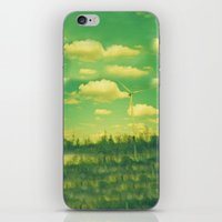 regina mills iPhone & iPod Skins featuring Wind Mills by Jake Holland
