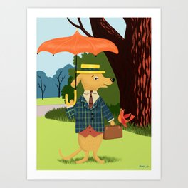 Mister Barkly Goes To The Park Art Print