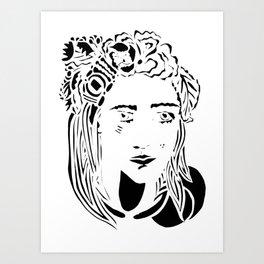Paper Cut - Woman No. 1 --1 Art Print