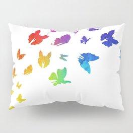 Rainbow Butterflies Pillow Sham
