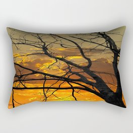 Sunset Tree, California Rectangular Pillow