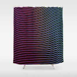 lines and patterns wing light painting Shower Curtain