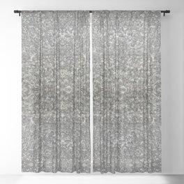 Facing Granite Pattern Sheer Curtain